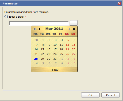 Adding a Calendar Widget to BIRT