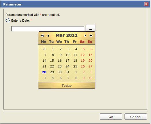 Adding a Calendar Widget to BIRT